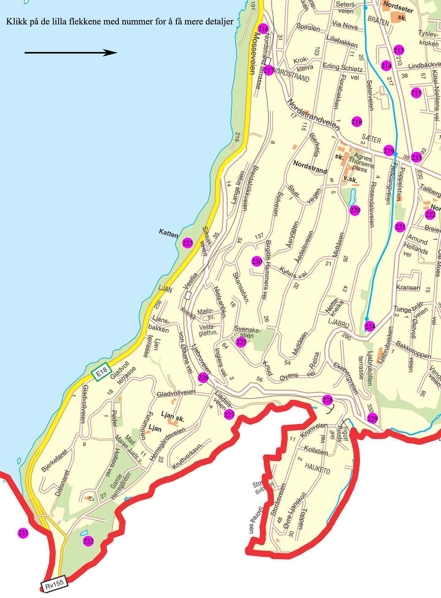 Kart Bydel Nordstrand